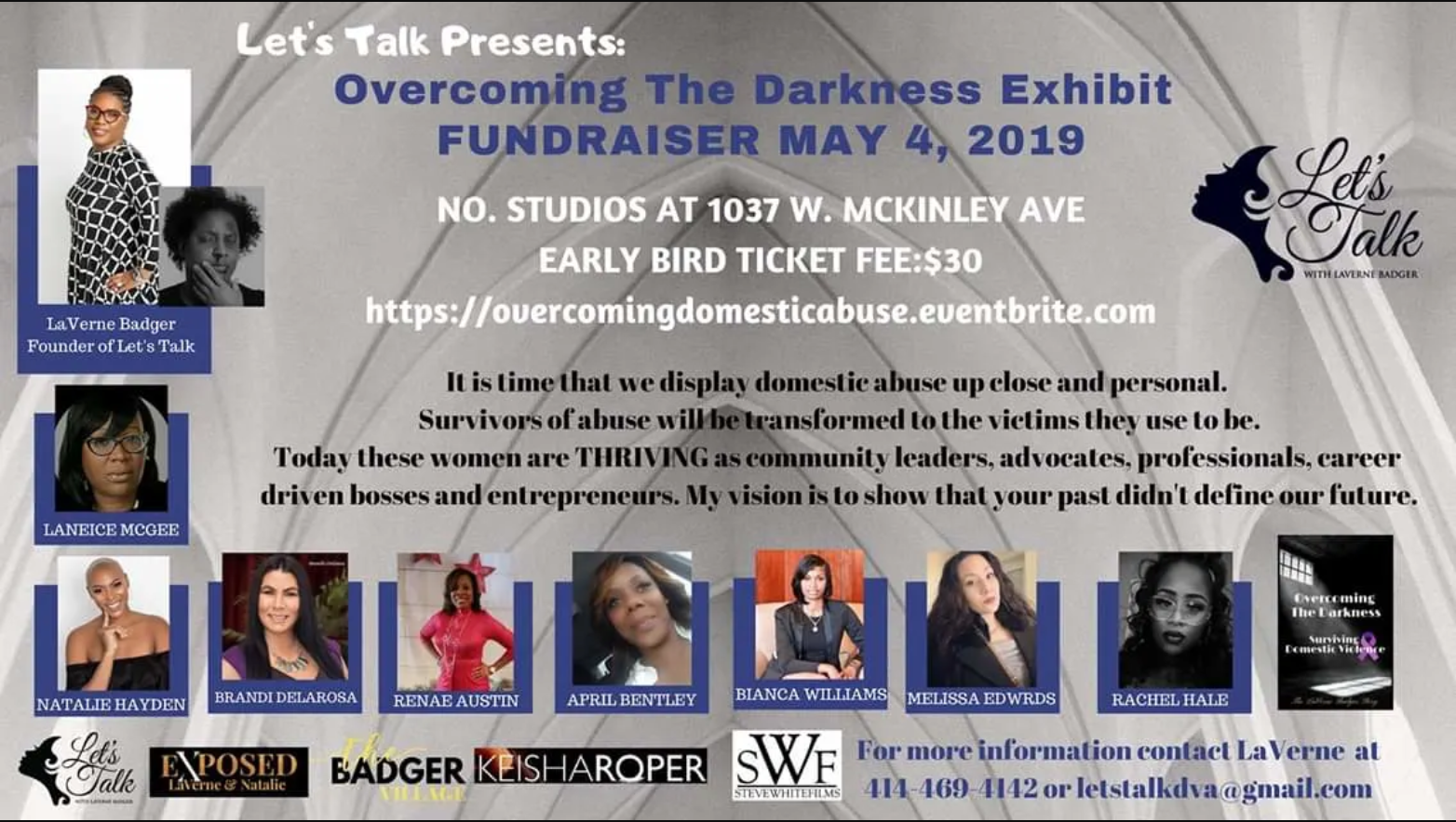 99d22ffe7ecd Overcoming The Darkness Exhibit – Fundraiser – laneice leads